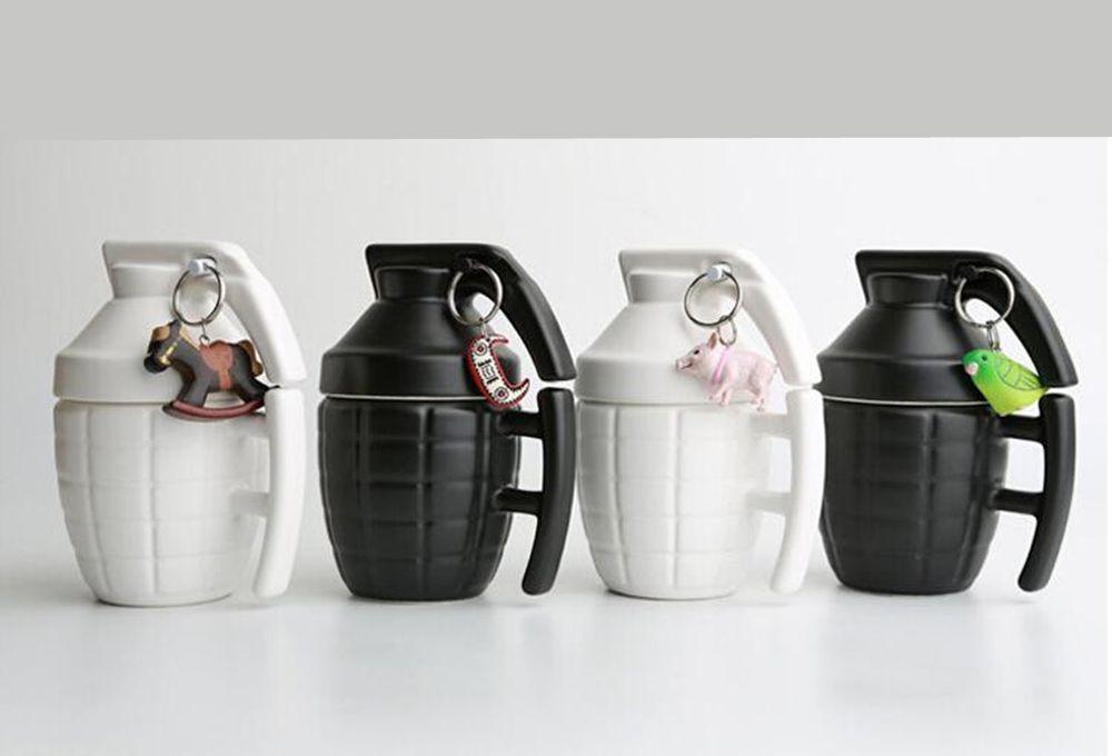 Creative Grenade Shape Ceramic Cup Mug