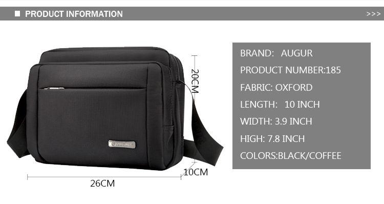 AUGUR Men Briefcase Bags Waterproof Male Shoulder Bag Business Documents Case