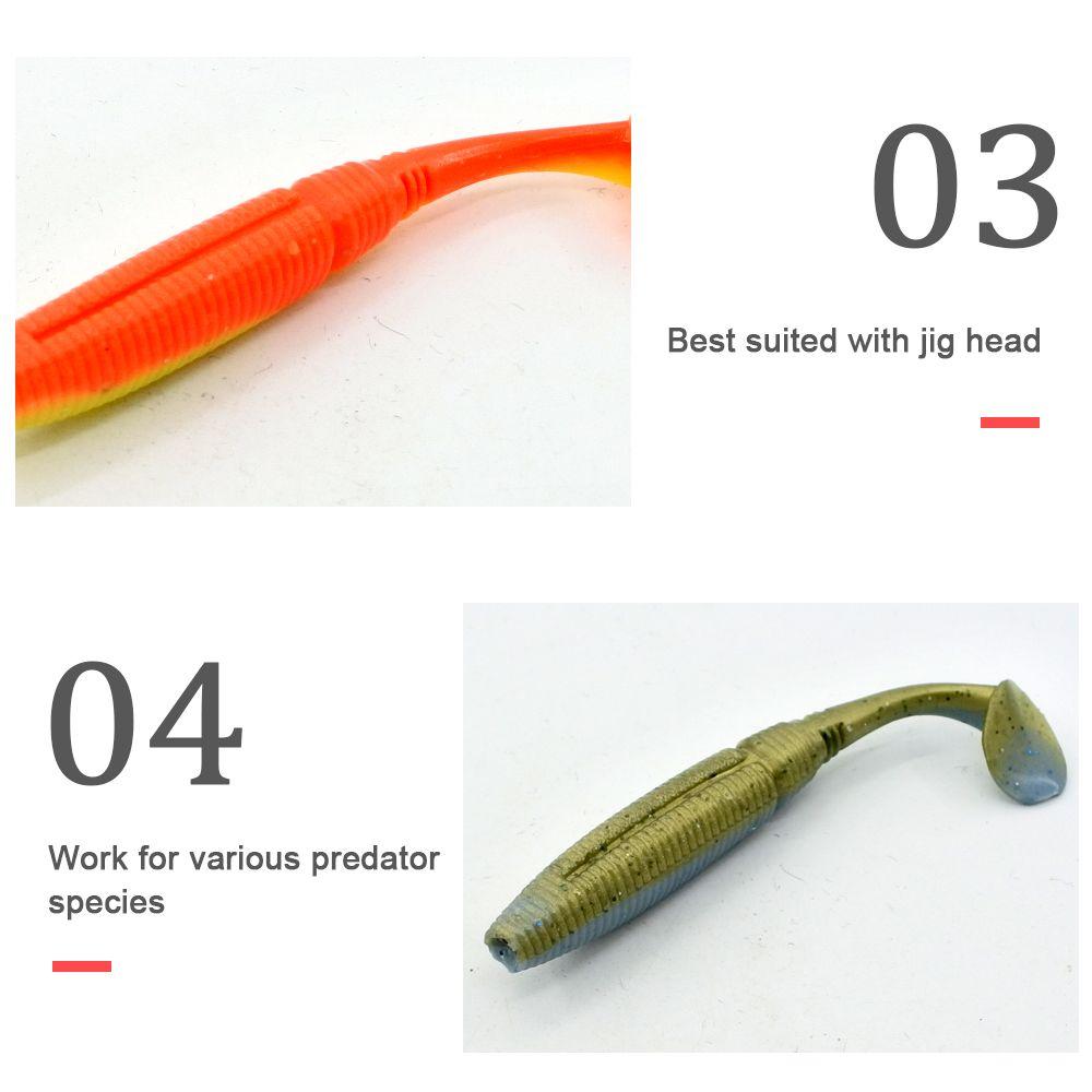 Different Color 7.5CM Length Soft Bait Fishing Lure