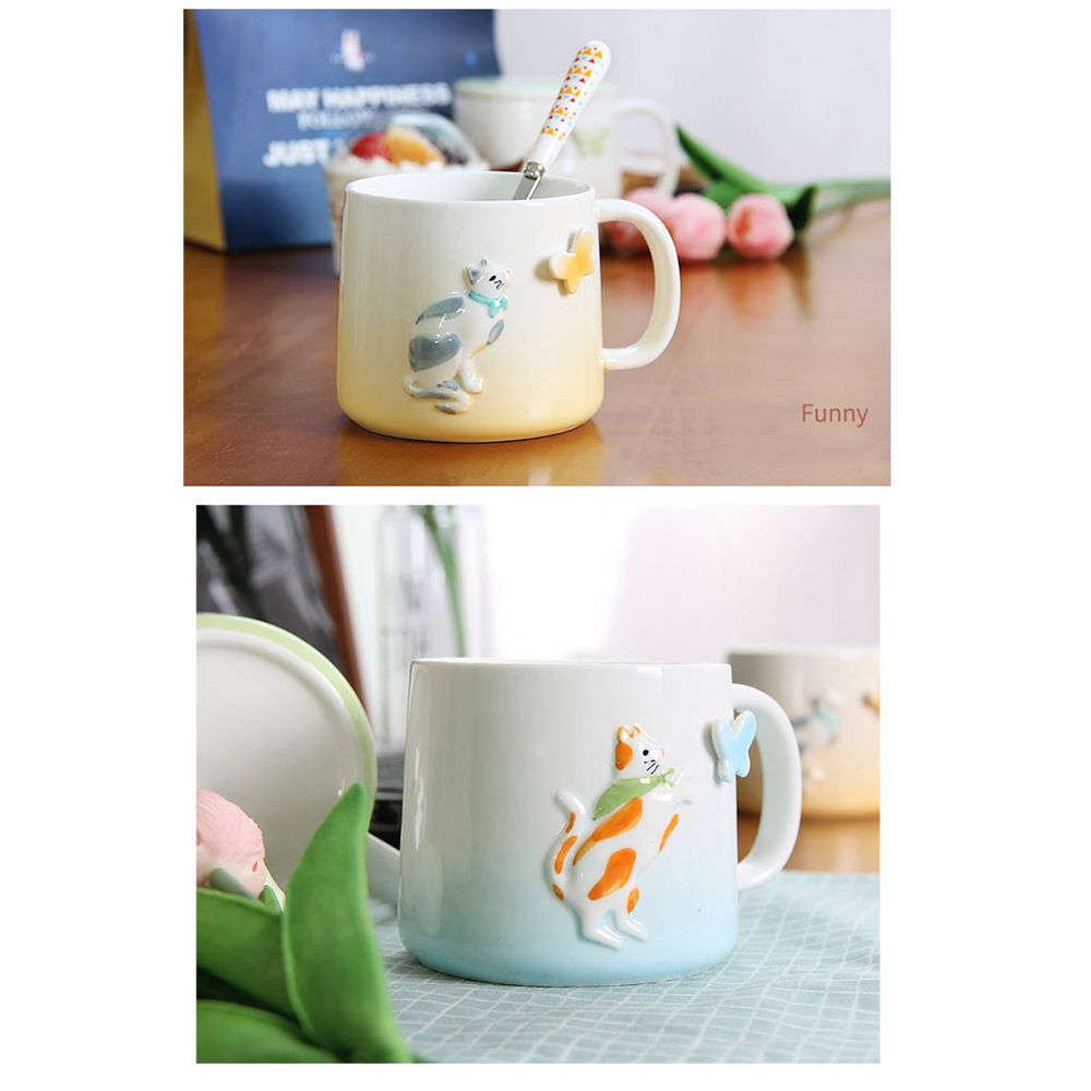 375ML Cartonn Naughty Cat Ceramic Cup