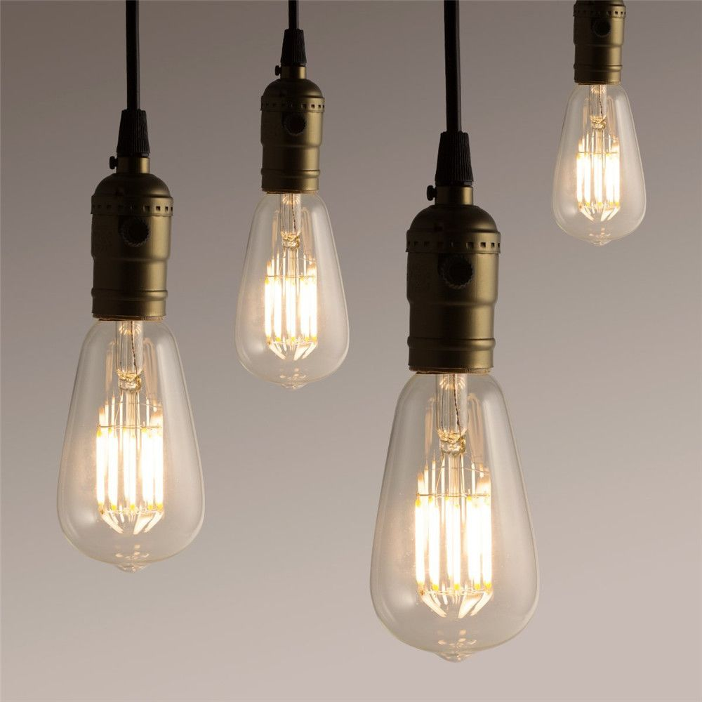 SUPli 10W ST64 Edison Warm White 100W Equivalent Vintage LED Filament Bulb with 360 Degree Beam Angle