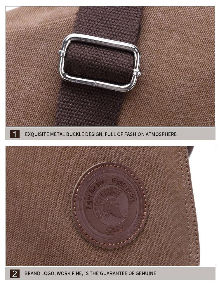 AUGUR 2017 New Canvas Casual Travel Bolas Masculina Messenger Crossbody  Shoulder Bag