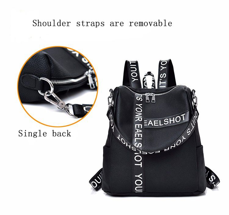 Casual Wild Shoulder Bag Printed Letter Design Backpack