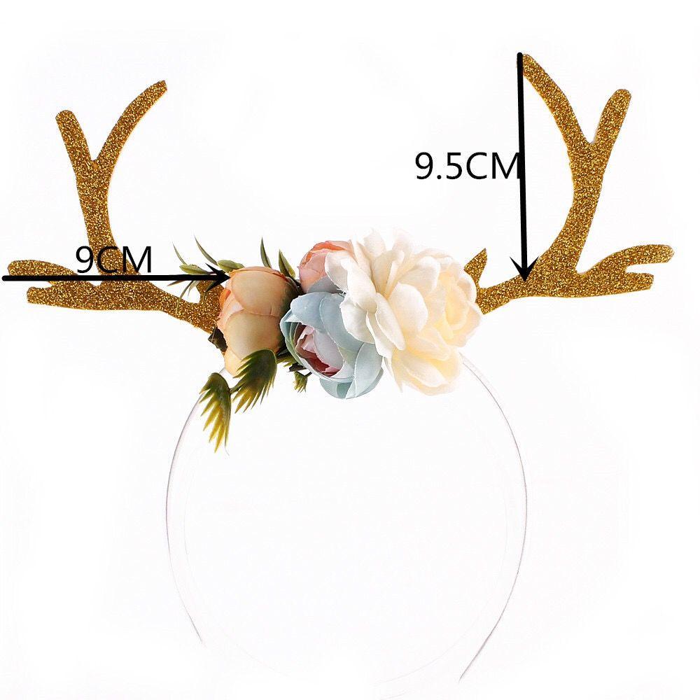 Christmas Gift Style Plum Elk Antlers Hair Band for Children