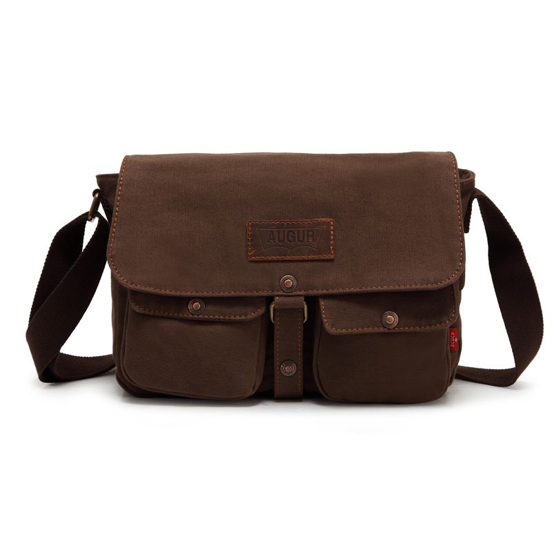 AUGUR 2017 Fashion Crossbody Casual Vintage Canvas For Men Travel Male Messenger Bags