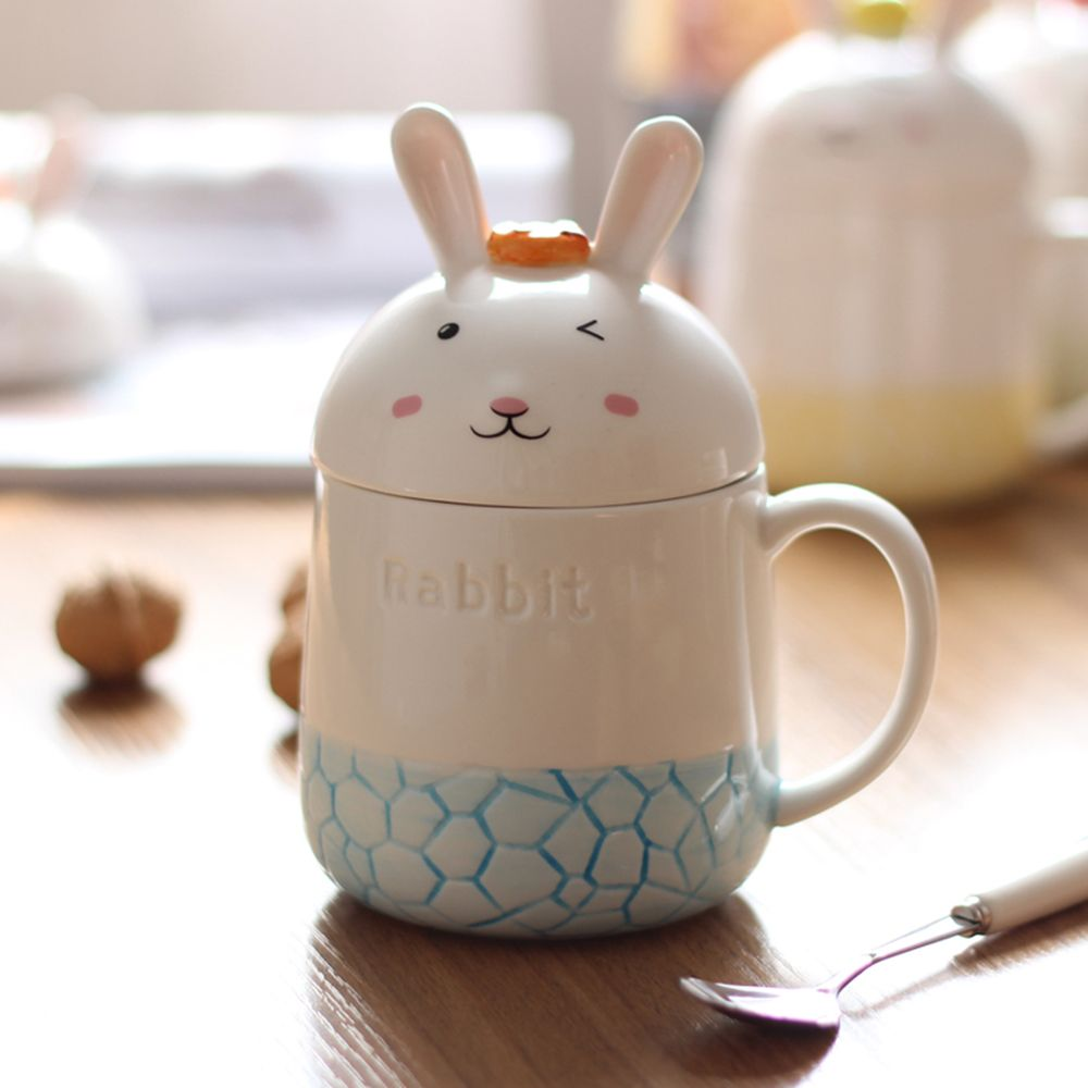 350ML Creative Cute Rabbit Ceramic Cup