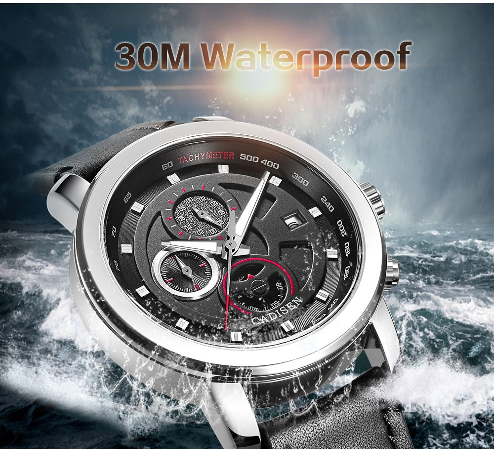Cadisen C9052 Fashion Men Waterproof Quartz Multifunction Sports Watch