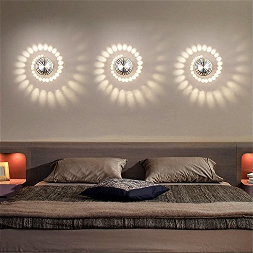 YWXLight 1W LED Wall Sconce Night Light Lamp Indoor Bedroom Decorative AC 110 - 240V