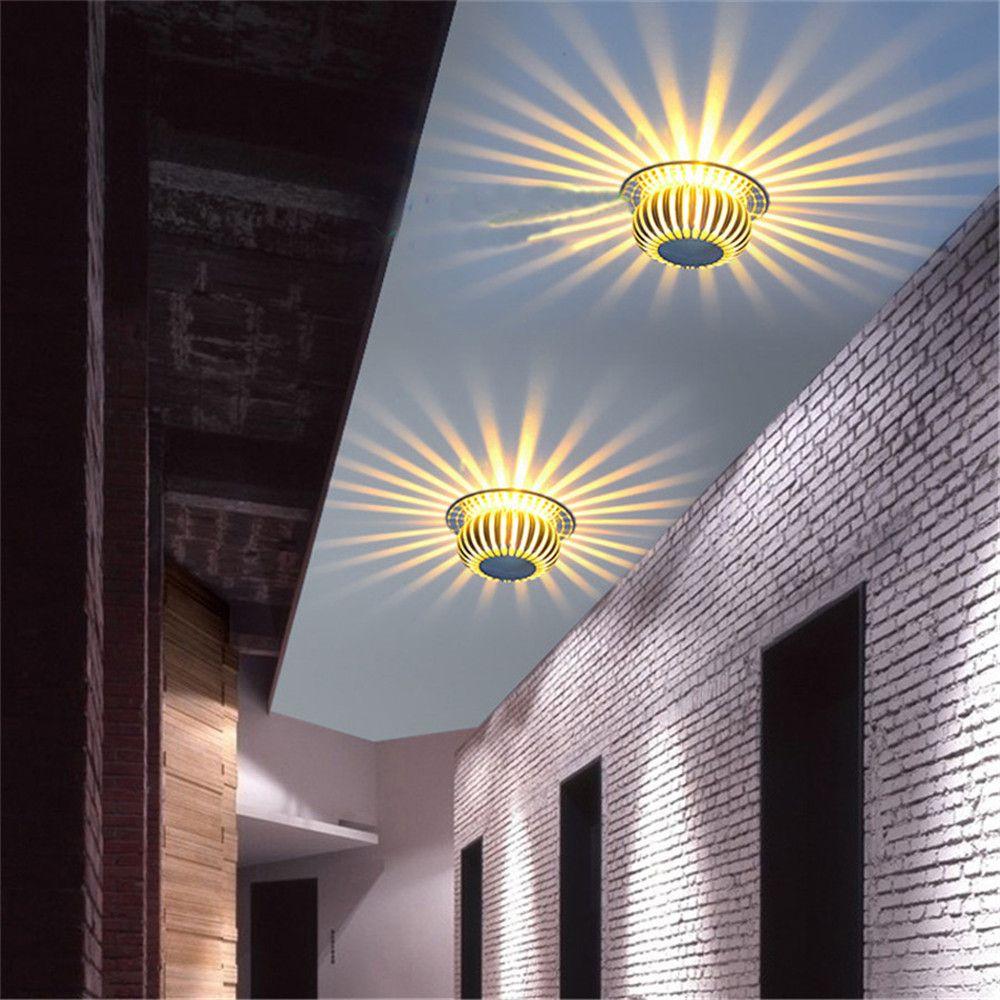 YWXLight 3W LED Round Shape Pumpkin Wall Lamp LED Home Decoration Light AC 110 - 240V