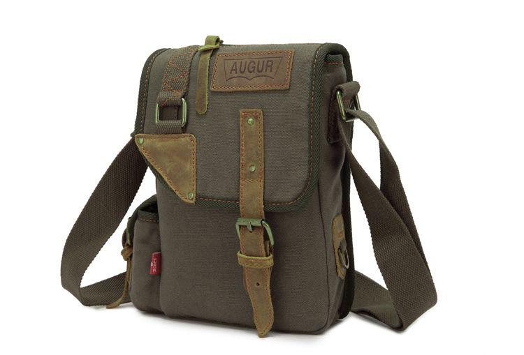 AUGUR Brand Vintage Military Men Messenger Bag Multifunction Canvas Single Mini Shoulder Bags