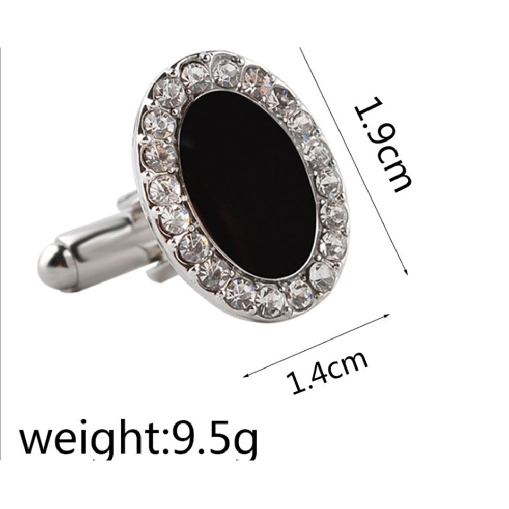 Men's Ellipsoid Alloy Patchwork Design Cuff Buttons Accessory