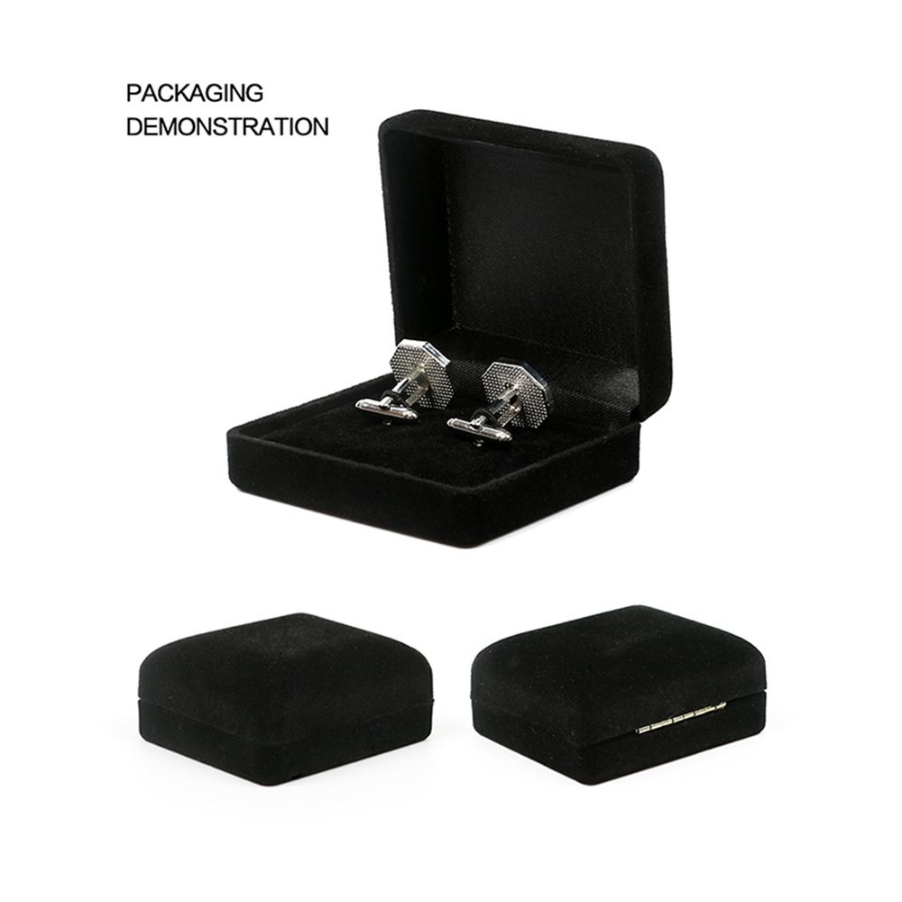 Men's Silver Ball Round Simple Style Vacuum Plating Cuff Link