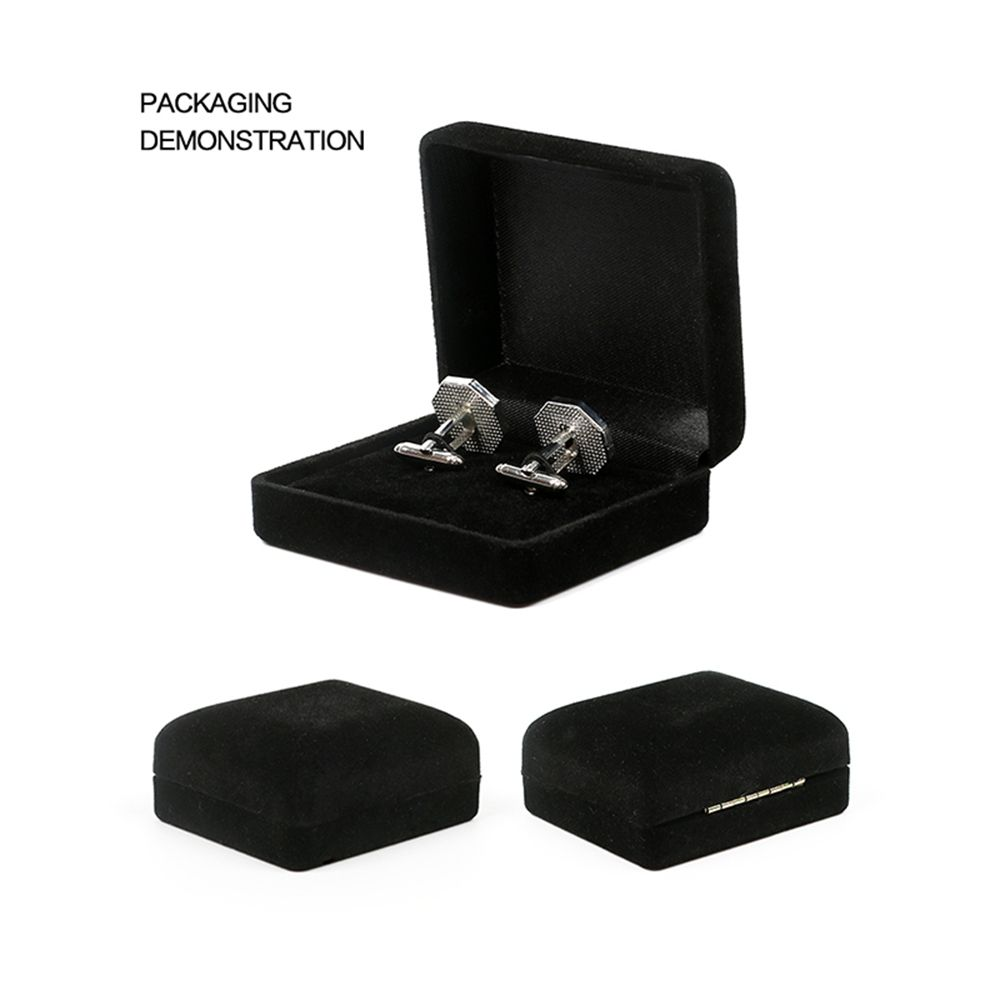 Men's Cufflinks Roof Solid Color Round Brief Cuff Buttons Accessory