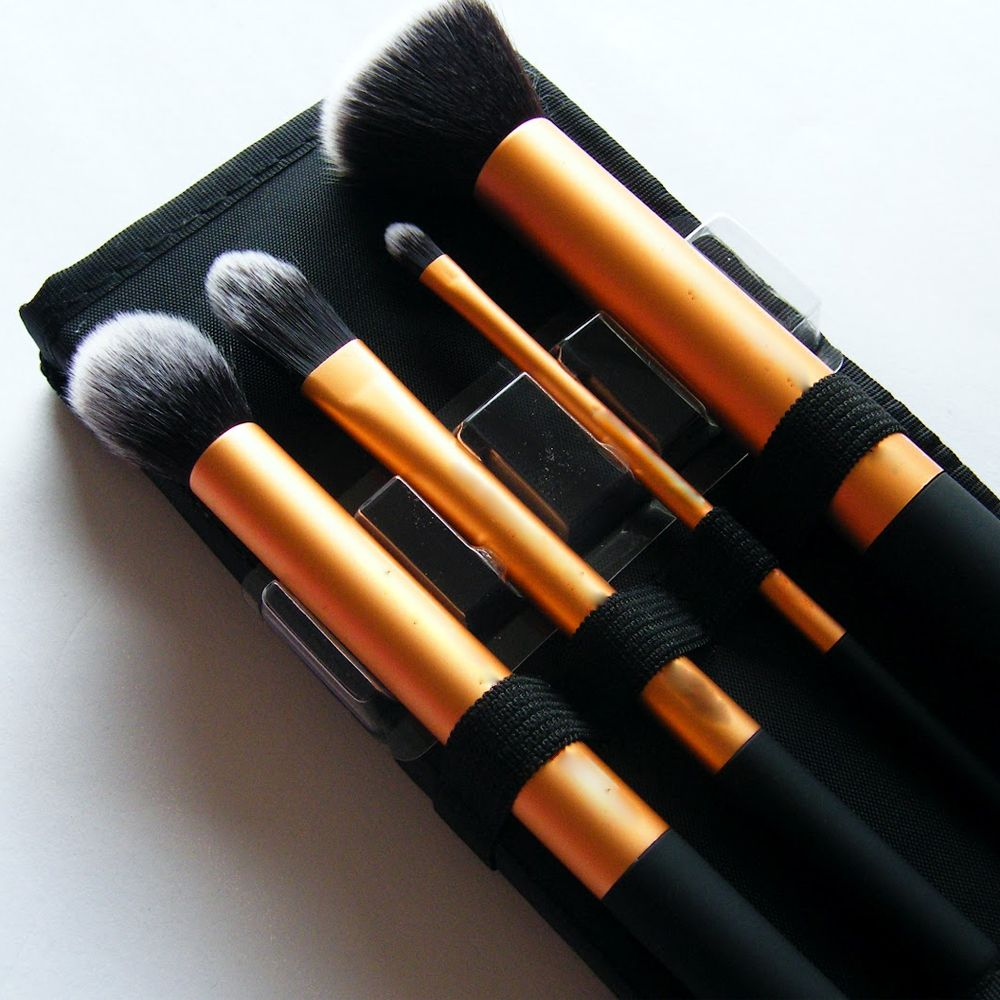 TODO Face Definition Makeup Brushes with Case 4PCS