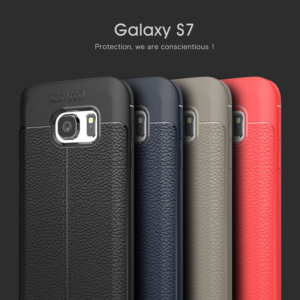 Case for Samsung Galaxy S7 Shockproof Back Cover Solid Color Soft TPU