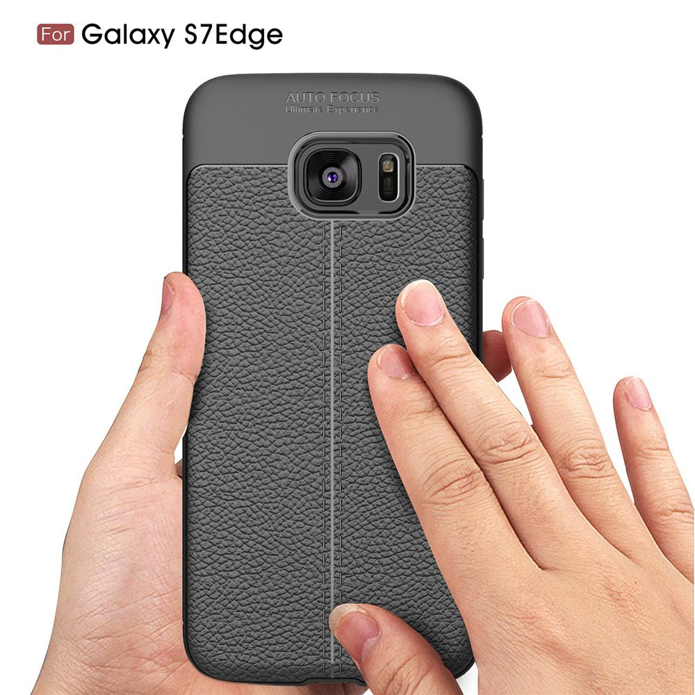 Case for Samsung Galaxy S7 Edge Shockproof Back Cover Solid Color Soft TPU