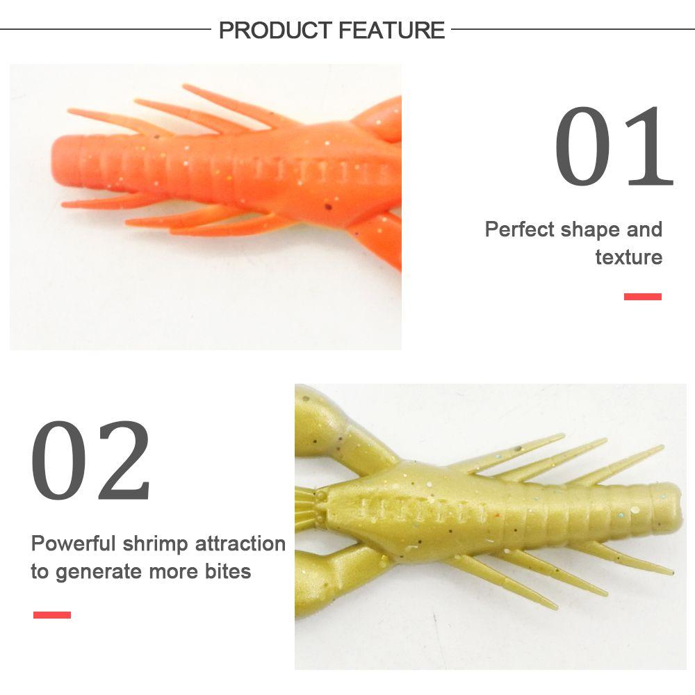 HONOREAL 7.5CM Shrimp Shape Soft Bait Fishing Lure 3PCS