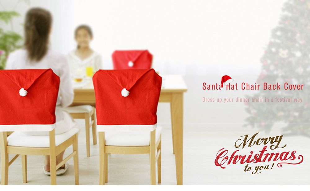 Yeduo Hort Santa Claus Hat Chair Covers Christmas Dinner Table Party