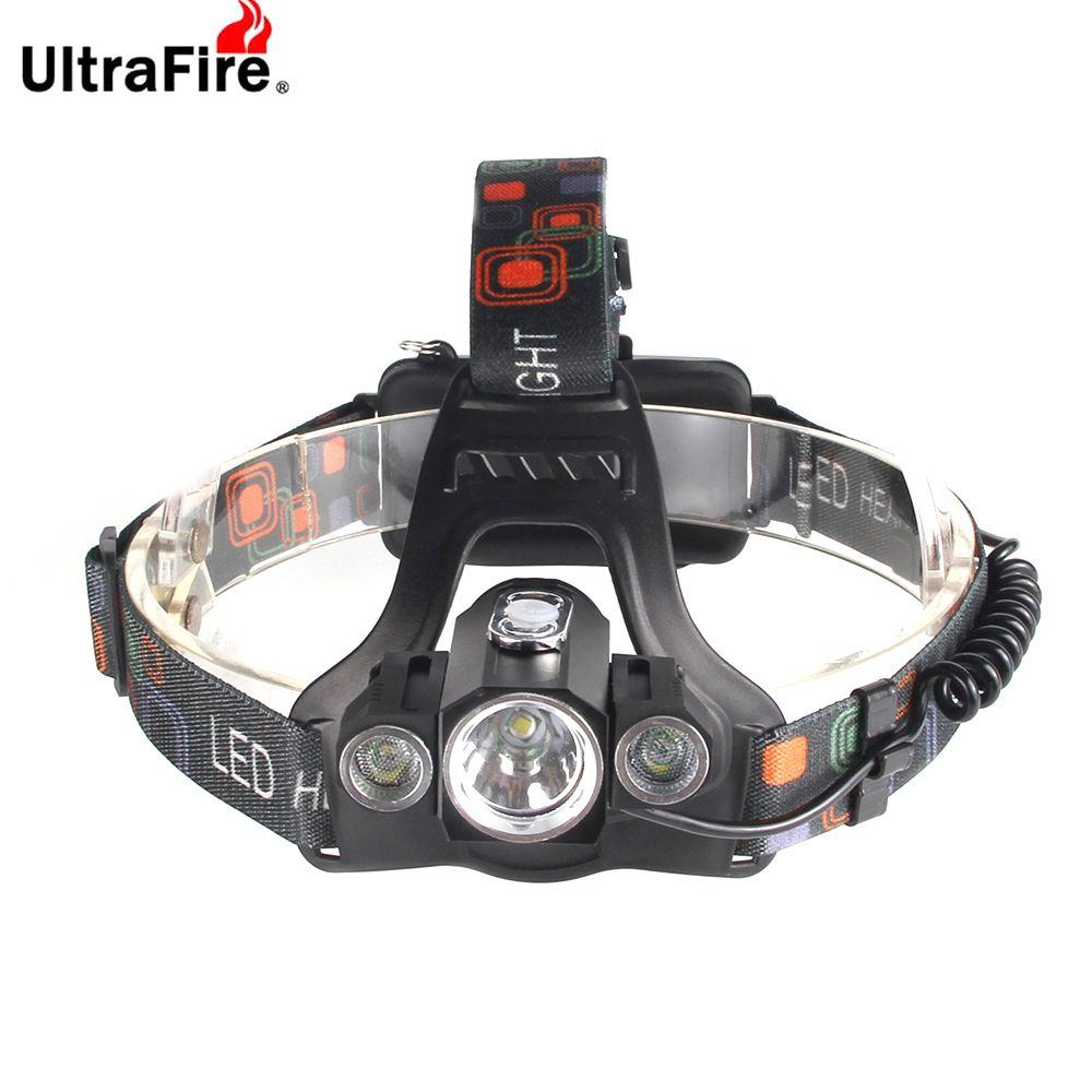 UltraFire Glare Headlights XM - L T6 1300LM 4 Modes 3 Heads