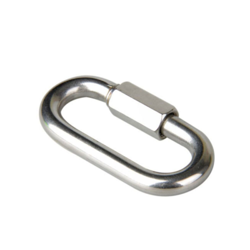 Solid Fine Steel Oval Lock Rock Climbing Carabiner Safety Bearing