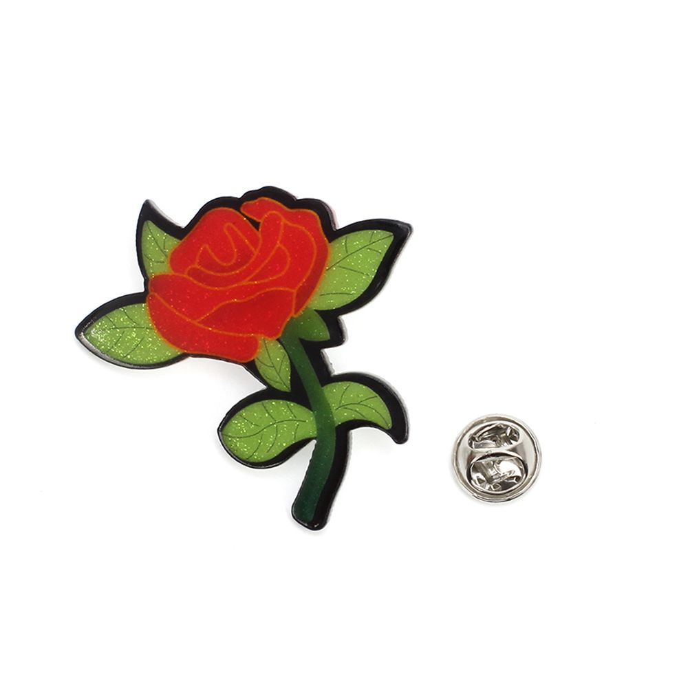 Rose Brooch Creative New Acrylic Plate Badge Flowers Wild Corsage