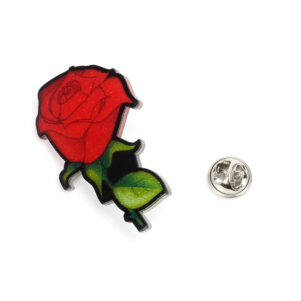 Creative Rose Brooch New Acrylic Plate Personality Brooch Female Accessories