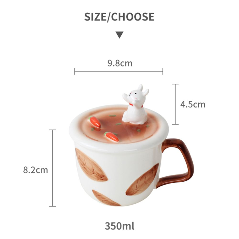 350ML Creative Animal Mobile Phone Bracket Ceramic Mug