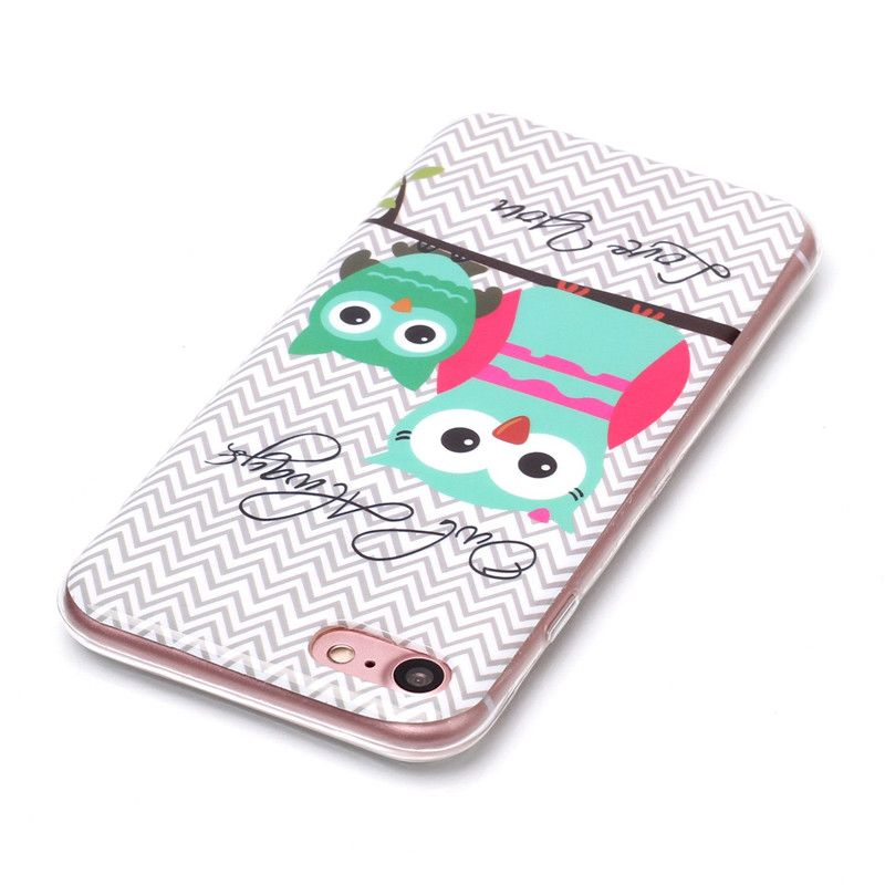 Owl Pattern Soft TPU Anti-scratch Back Cover Case for iPhone 6
