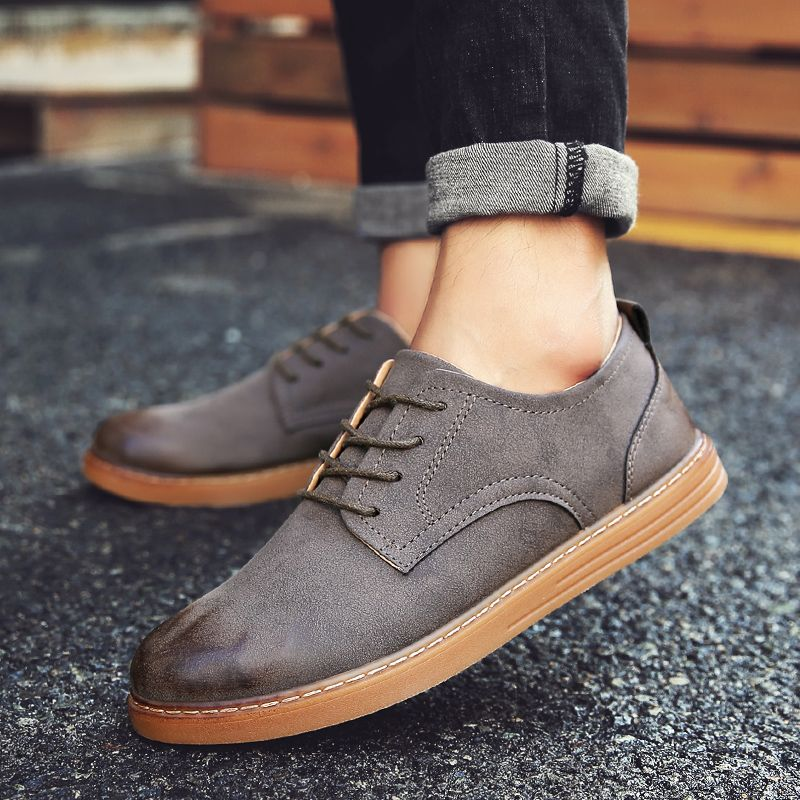 Men Autumn Fashion Brush Leather Shoes