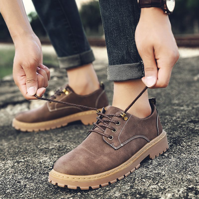 Autumn Worker Fashion Outdoor Leather Shoes