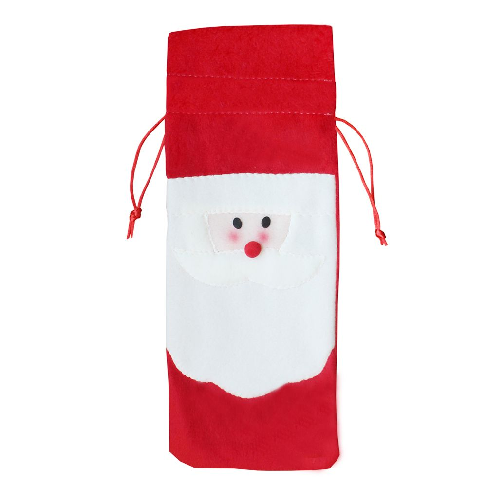 Santa Claus Bottle Decoration Bag
