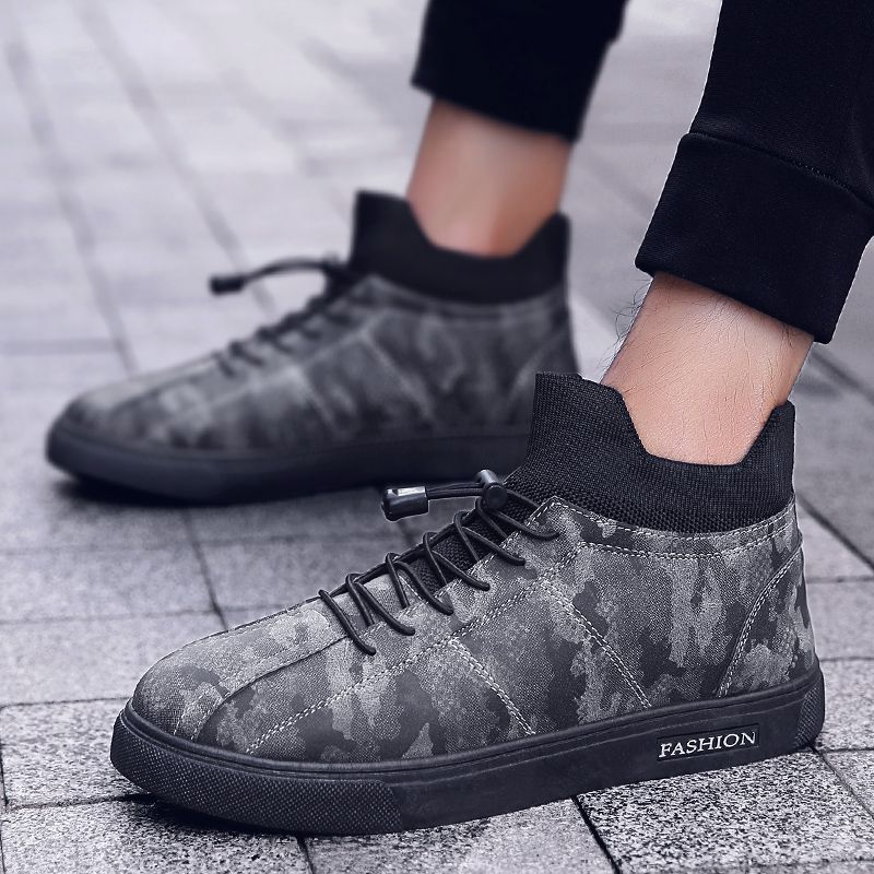 Camouflage Fashion Winter Flat Shoes