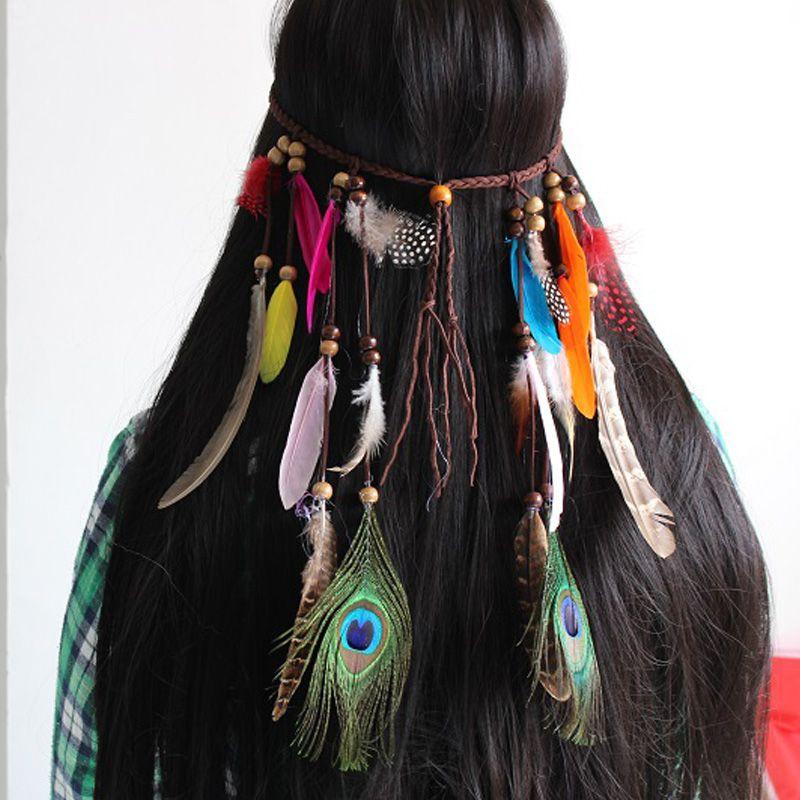 Feather Headdress Fashion Fringed Hair Rope