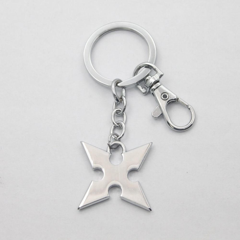 King Hearts Keychain Accessories Rhombus  Metal Alloy Keyring Gadgets Pendant