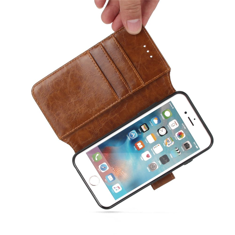 Stone Grain Wallet Stent Bumpers for iPhone 7