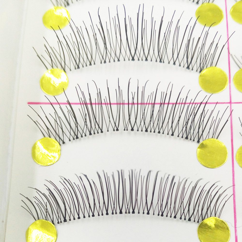 100 Pairs Makeup Daily Life Pure Manual Natural Long Transparent Terrier False Eyelash Suits