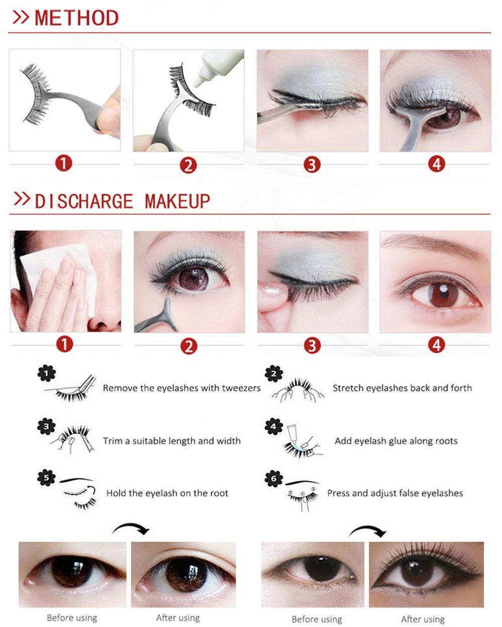 100 Pairs Makeup Daily Life Pure Handmade Black Natural Long False Eyelash Suit