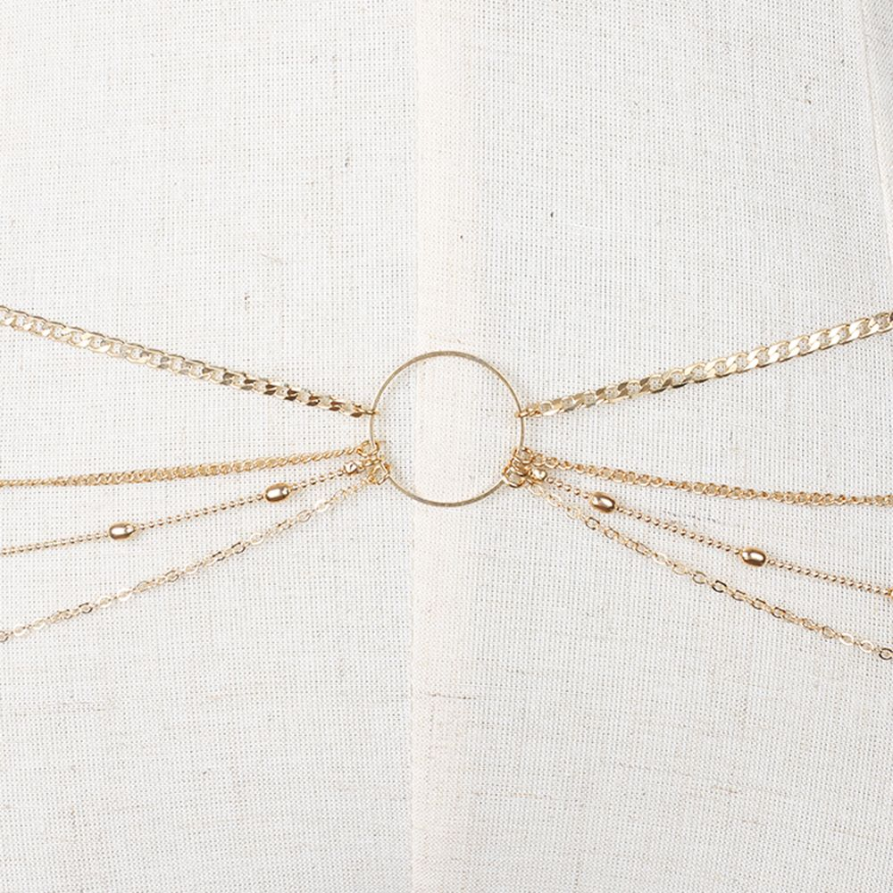 Fashion Simple Jewelry Geometric Circle Metal Multi-layered Waist Chain Women's Clothing Accessories
