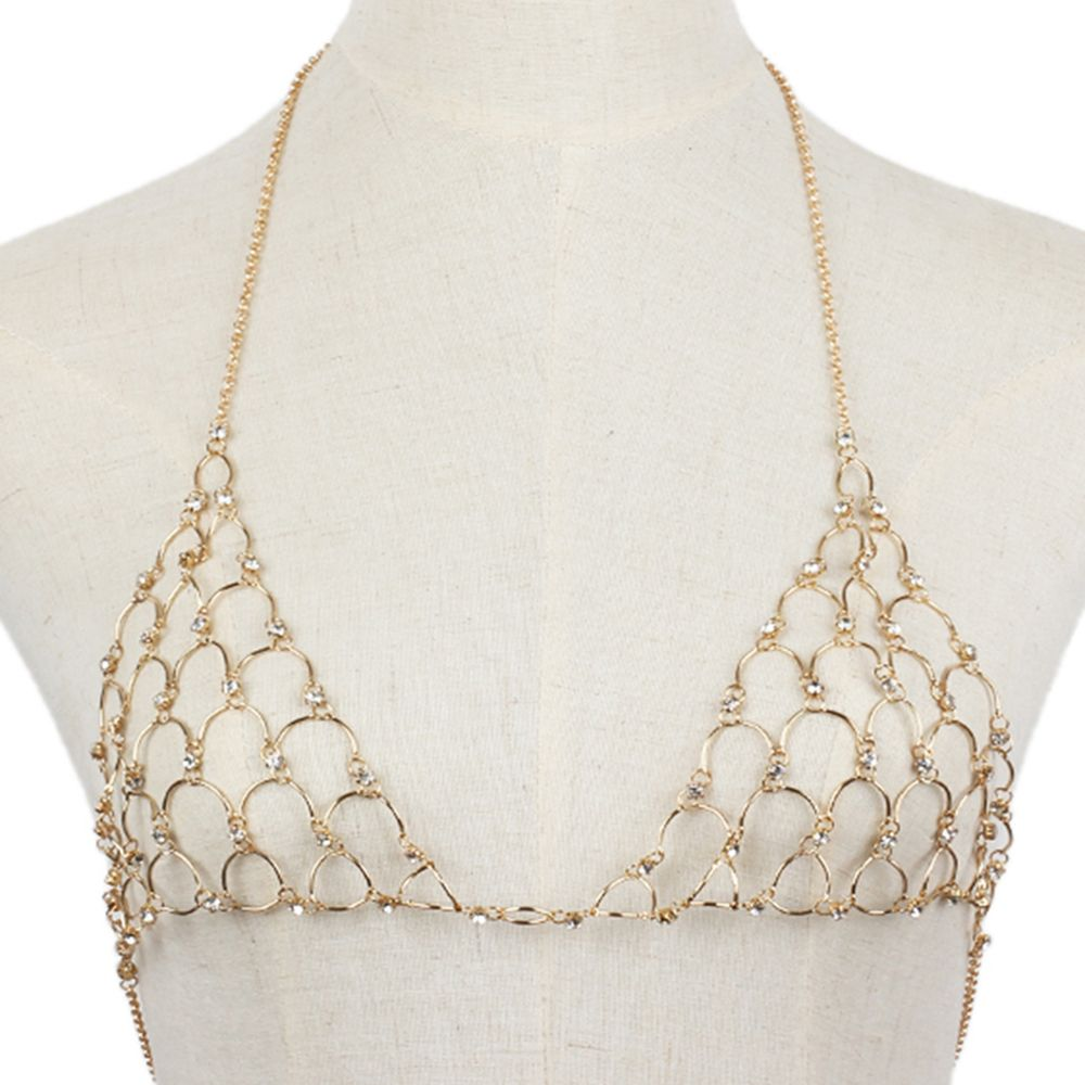 Multi-layered Diamond Sexy Chest Wild Fashion Bikini Body Chain
