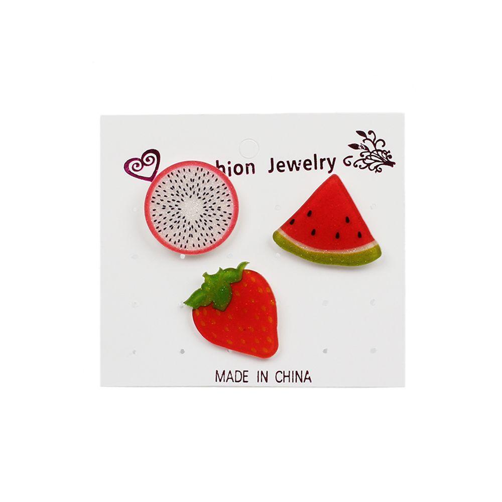 Cartoon Acrylic Girls Heart Jewelry Brooches Set Female Accessories Acrylic Badges
