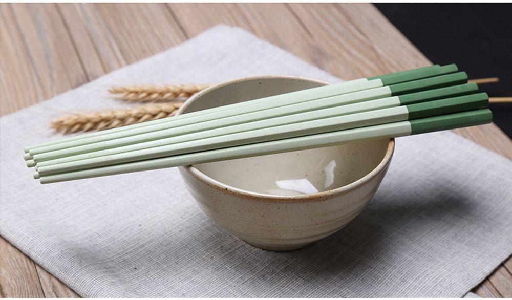Suncha Colored Green Rice Husk Chopsticks