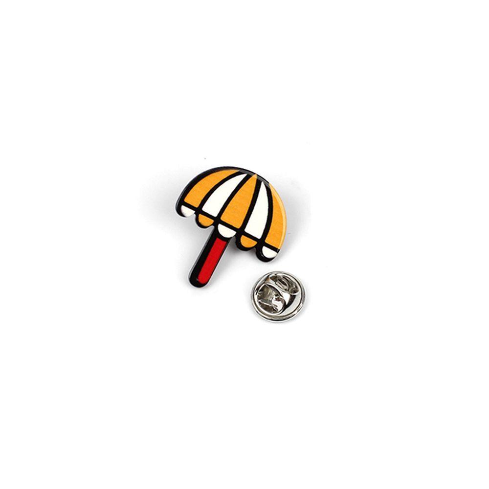 Cartoon Acrylic Beach Umbrella Ornament Mittens Christmas Tree Brooch Set
