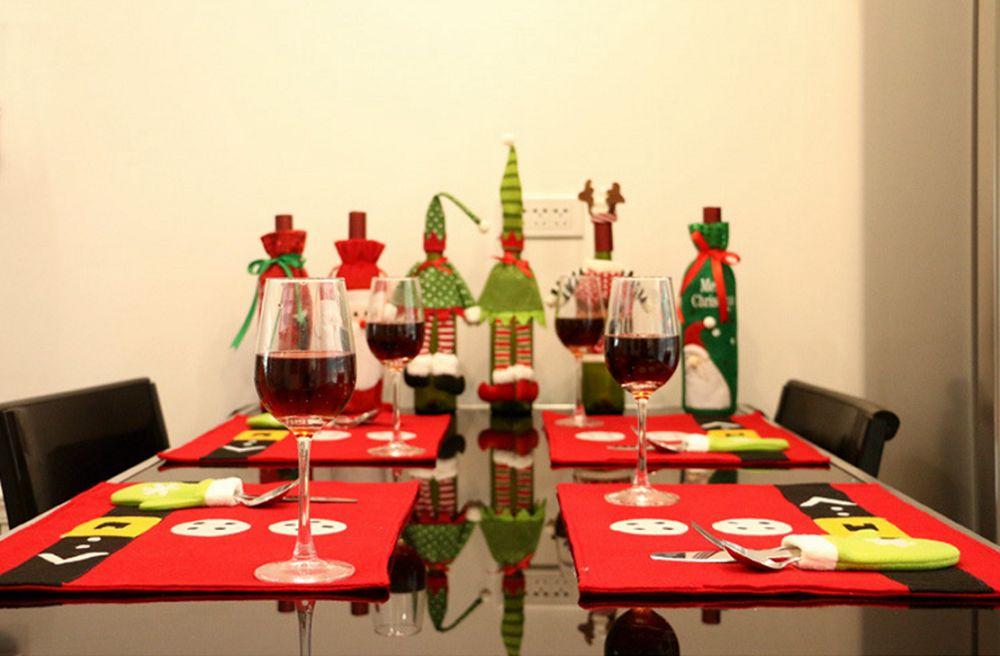Atongm Christmas Decoration Restaurant Cloth