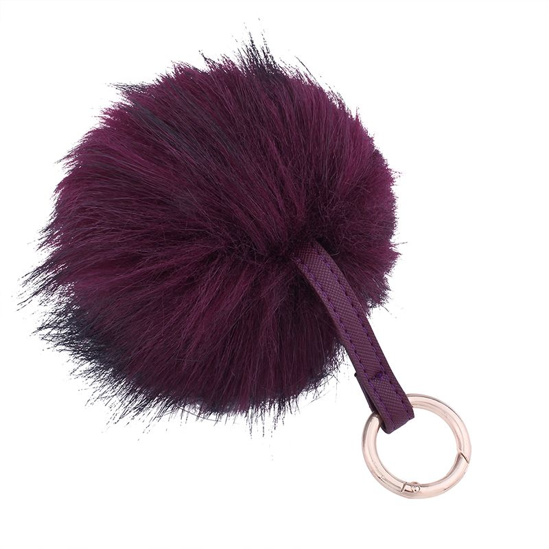 Creative Hair Ball Multi-color Key Ring Girls Package Pendant
