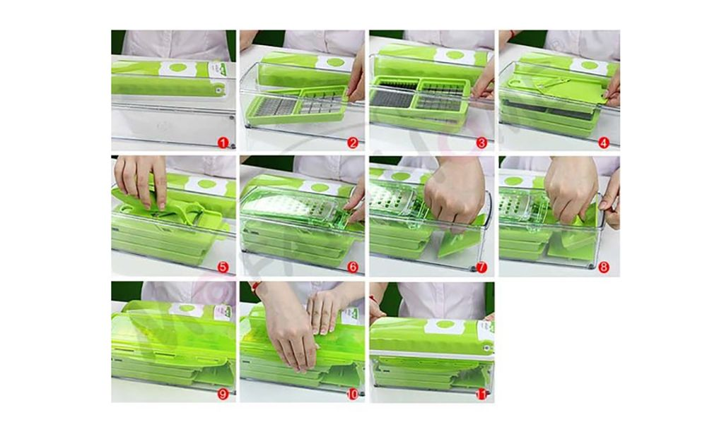 Kitchen Shredder Hand Peeling Machine Type Mashed Garlic Potato Slice Grater Set