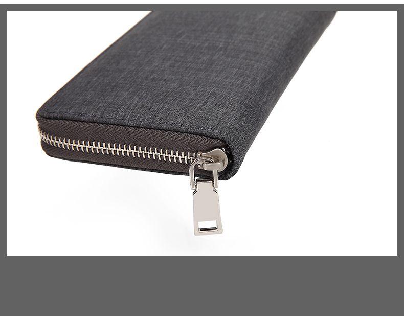 AUGUR Fashion Wallets Long Men Clutch Canvas Zipper Business Male Coin pocket