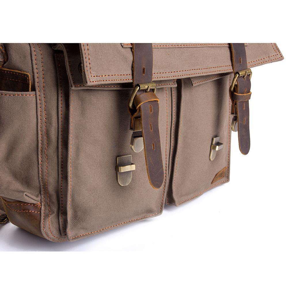AUGUR Fashion Men HandBag Vintage Canvas Male Travel Shoulder Crossbody Vintage Military Bag