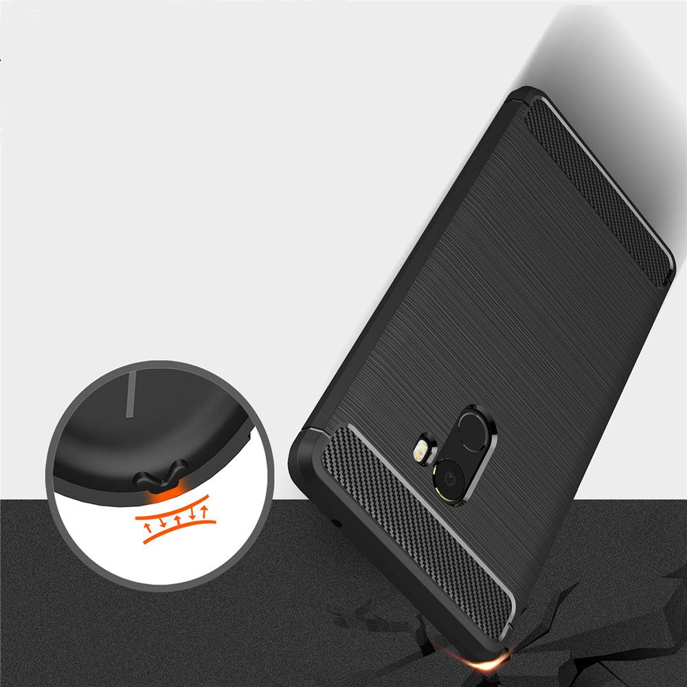 Leather Business Carbon Fiber Pattern PU Soft TPU Cover Case For Xiaomi Mix 2