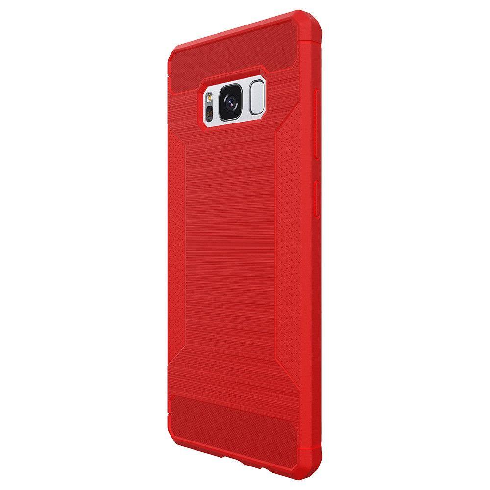 Voor for Samsung Galaxy S8 Telefoon Gevallen Luxe Business Carbon Fiber Soft TPU Ontwerp Cover Case