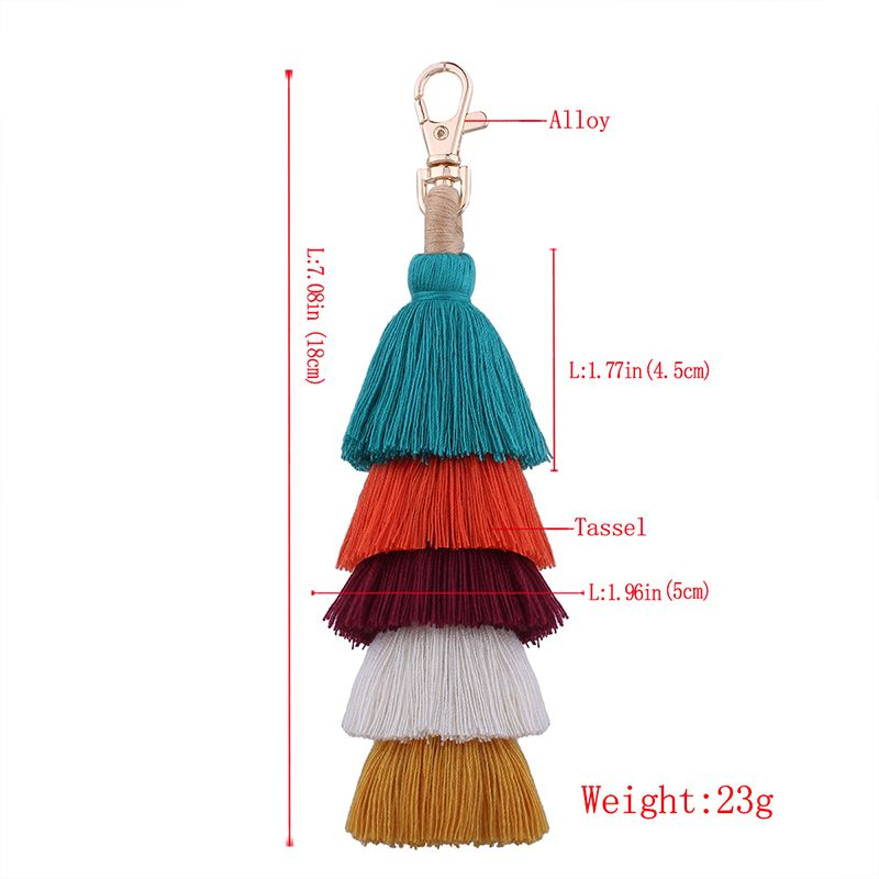 Single Color Multilayer Fringe Key Ring Fashion Bag Mobile Phone Accessories